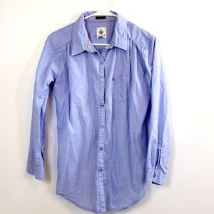 Coupe Blue Boyfriend Shirt Chambray size Med